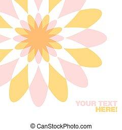 salutation, géométrique, carte, fleur