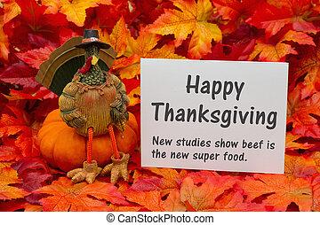 salutation, rigolote, heureux, thanksgiving