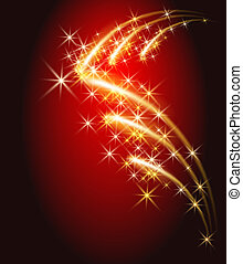 Salute and firework - Glowing background with salute and...