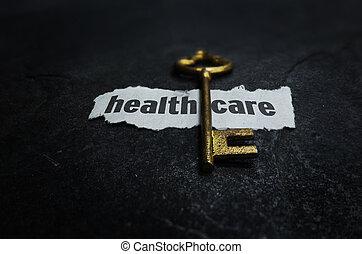 salute, chiave, cura