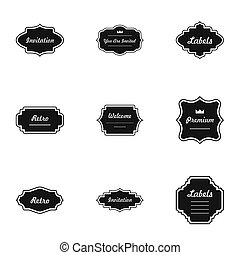 Salute icons set, simple style
