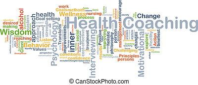salute, istruire, fondo, concetto