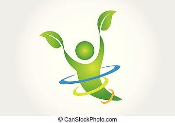 salute, natura, logotipo