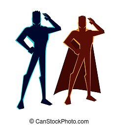 salutes, superheroes