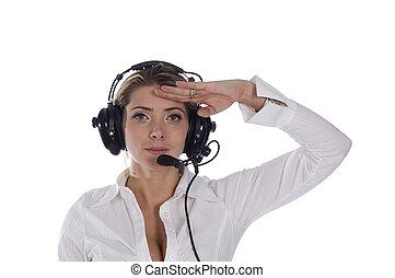 Saluting air traffic controller