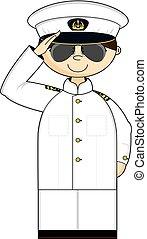 Saluting Navy Officer