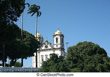 Salvador, Brazil - January, 2017: Igreja Nosso Senhor do...