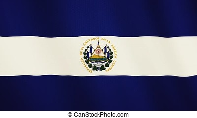 Salvador flag waving animation. Full Screen. Symbol of the...