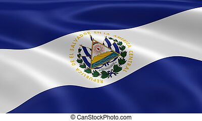 Salvadoran flag in the wind