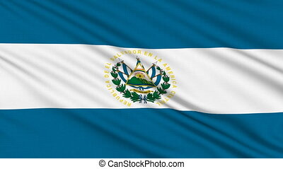 Salvadoran flag, with real structure of a fabric