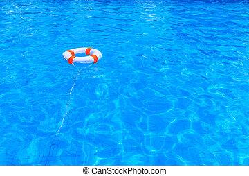 Vita salvataggio lifebuoy bandiera fondo cerchio for Piscina fondo nero