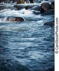 salvaje, pequeño, río, cascada