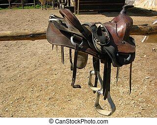 salvaje, silla de montar