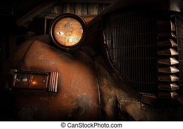 salvataggio, titolo, rifiuto, automobile