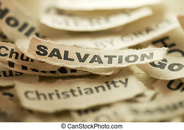 Picture of a word salvation.