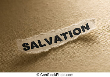 Salvation - Picture of a word salvation.