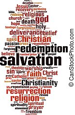 Salvation word cloud - vertical - Salvation word cloud ...