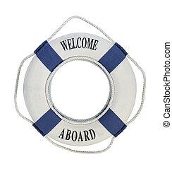 salvavidas, a bordo de, bienvenida