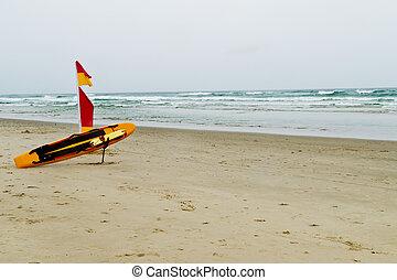 salvavidas, australiano, marcha de playa