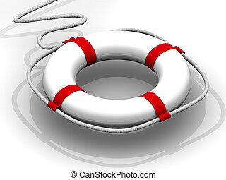 salvavidas, ayuda, primero
