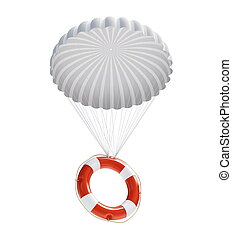 salvavidas, en, paracaídas