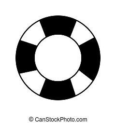 salvavidas, imagen, icono