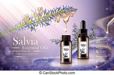 salvia, 不可欠な滑油