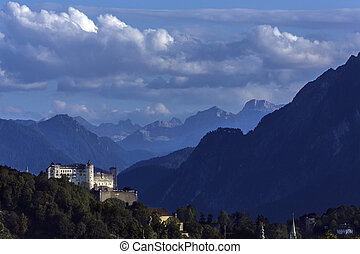 salzburg, австрия, -, замок, hohensalzburg