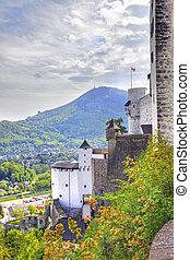 salzburg., 市の, 風景