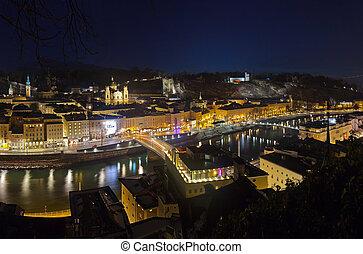 Salzburg at night - Austria