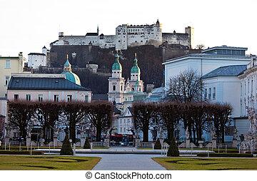 salzburg, austria, cityscape