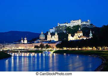 Salzburg, Austria Historic Centre of the City of Salzburg, One of the UNESCO World Heritage Sites in Europe