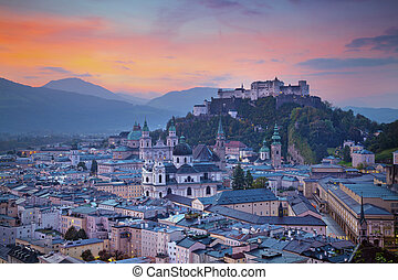 Salzburg, Austria. - Image of the Salzburg during autumn...