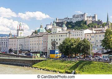 Salzburg Austria - Salzburg cityscape downtown in Austria
