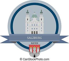 salzburg, bandera, cinta