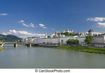 Salzburg City Historic Center Panor