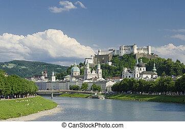 Salzburg City Historic Center Panor - International festival...