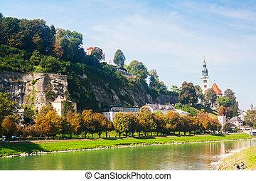 Salzburg in a sunny day