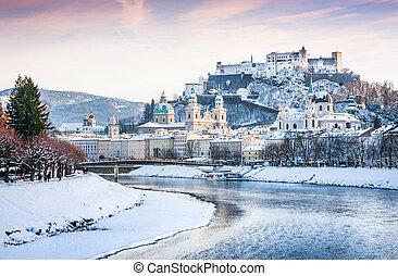 Salzburg in winter, Austria