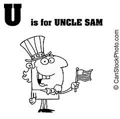 sam, esboçado, tio
