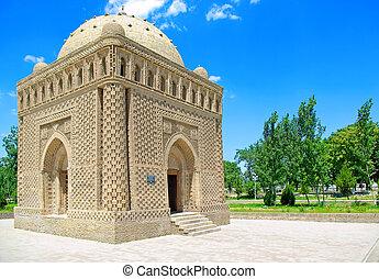 Ismail Samani mausoleum (892 - 943) in Bukhara, Uzbekistan.