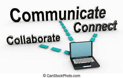 samarbejd, kommunikere
