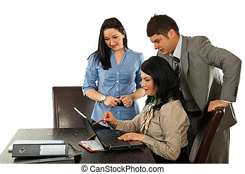 samarbete, affärsfolk