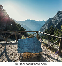 Samaria Gorge in central Crete, Greece