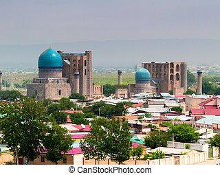 Samarkand city in Uzbekistan.