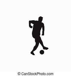 """samba"" dribbling - silhouette illustration - shot, dribble, celebration and move in soccer"