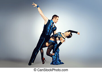 samba expression - Beautiful professional dancers perform...