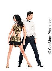 samba pair - Beautiful professional artists dancing ...