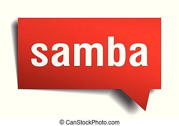 samba red 3d speech bubble