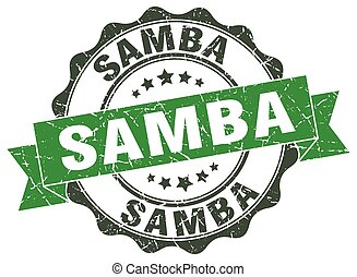 samba, stamp., sello, signo.